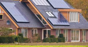 domestic solar panel installation